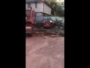 Уборка мусора бобкетом