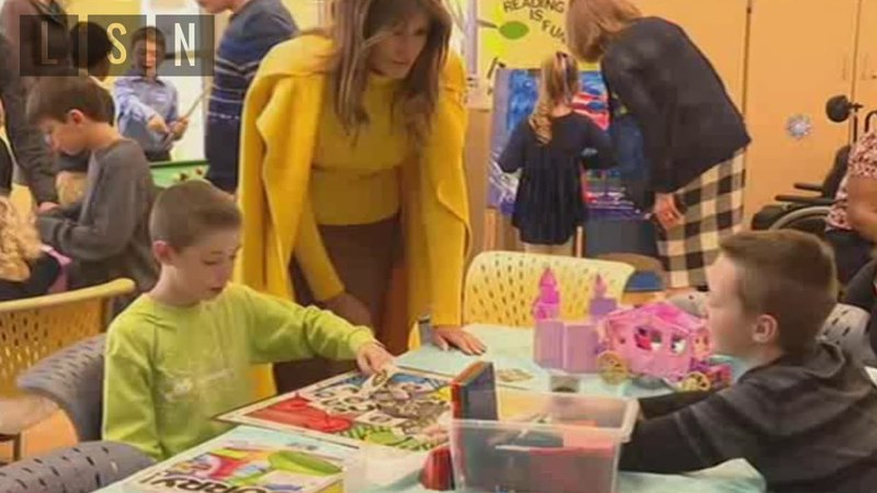 📡 First Lady Melania Plays with Kids at Cincinnati Children's Hospital
