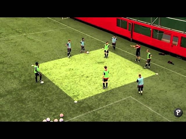 Soccer Coaching Possession Drill Warm Up (Technical)