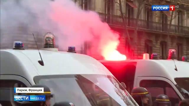 Вести недели. Эфир от 19.11.2017. Париж протестует против трудовой реформы и работорговли