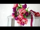 Cвадебный букет из тюльпанов