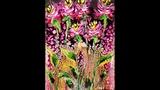 DA120 HOT PINK WILDFLOWERS Acrylic Swipe with Embellishment Wet on Wet with Sandra Lett