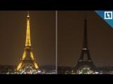 Эйфелева башня гаснет в Час Земли