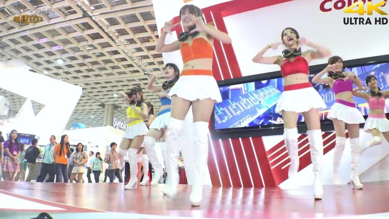 VCOLOR SG熱舞(4K 2160p)@2015 COMPUTEX 台北國際電腦展 國電展[無限HD] 🏆 🏆