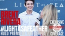 Brent Rivera interviewed at the Light as a Feather Premiere red carpet Hulu LightAsAFeather