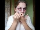 Простой макияж на Хеллоуин от Марии