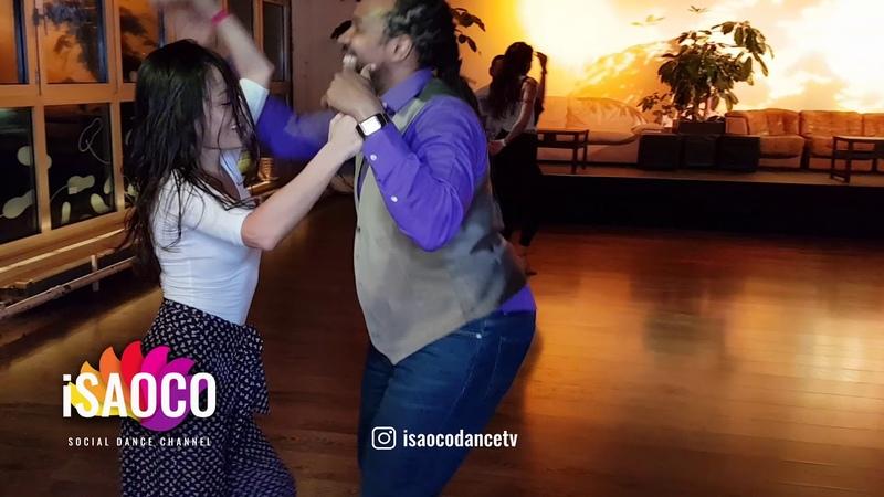 (Mobile Camera) Marlon and Yumi Salsa Dancing, Pre Party Salsa Festival Switzerland, Fri 23.02.2018