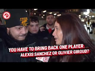Olivier Giroud or Alexis Sánchez - - @SophieRoseUTC asks Arsenal fans who they would rather bring back if they could only choose