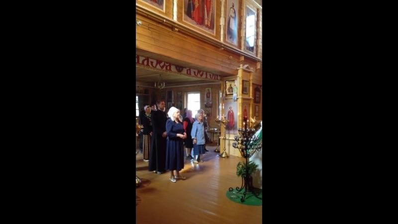 Молебен Богородице от 30 июня 2018г в храме Зосимы, Савватия и Термана Соловецких г.Няндома.