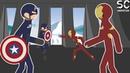 Железный человек против Капитана Америки. Драка стикменов [Moho Pro Анимация]