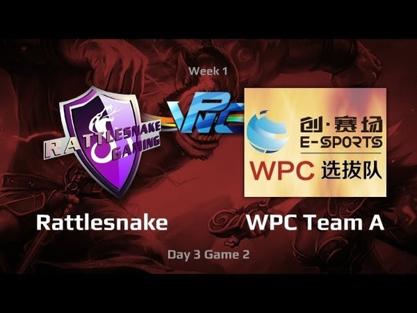 RattleSnake vs WPC Team A, WPC-ACE League, Day 3, game 2