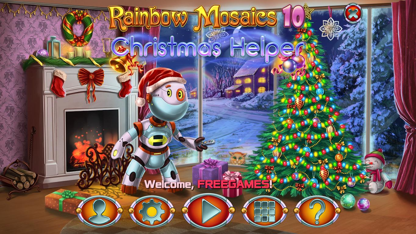 Радужная Мозаика 10: Рождественский Помощник | Rainbow Mosaics 10: Christmas Helper (En)