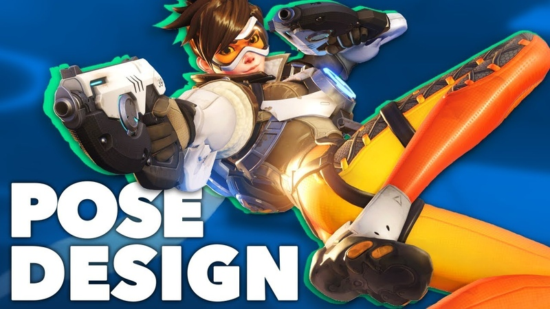 Tracer Pose Design 101 - The Animation of Overwatch - New Frame Plus
