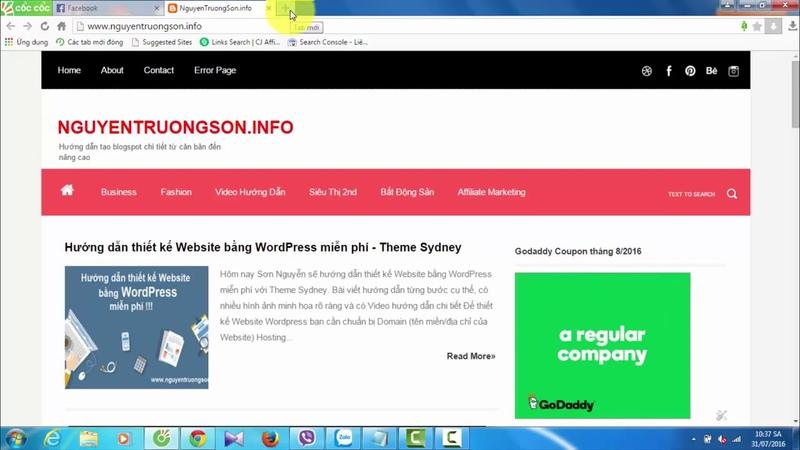Hướng dẫn thay thế Email quản trị cho Blogspot - nguyentruongson.info