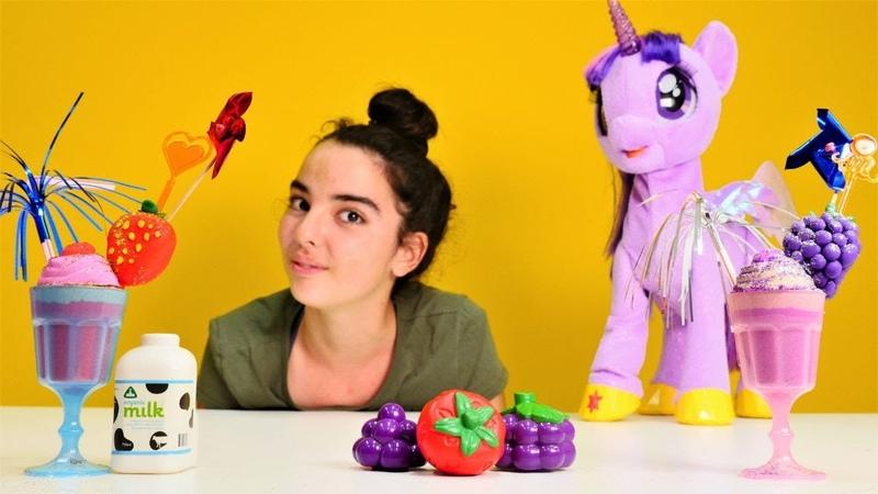 My Little Pony oyuncakları. Twilihgt Sparkle ile milkshake yapıyoruz!