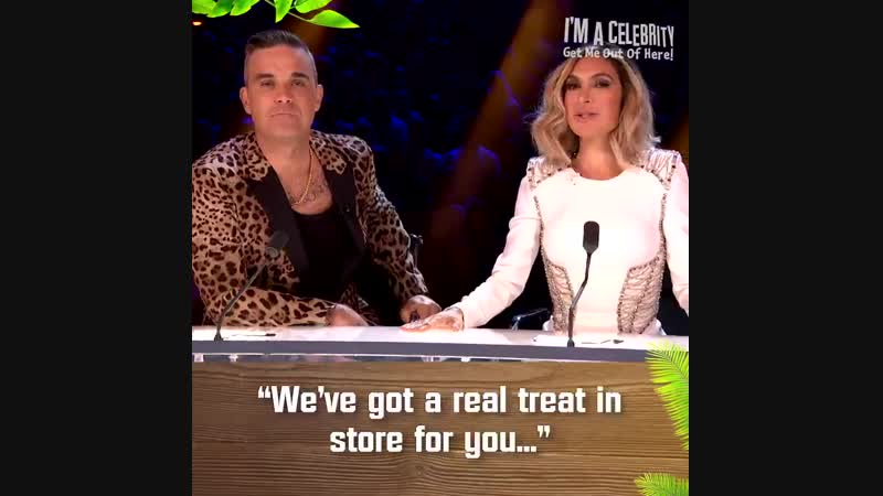 ImACeleb ️ Last night RobbieWilliams made a special appearance on The XFactor-themed live trial alongside Ayda, as they introduc