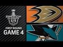 Anaheim Ducks vs San Jose Sharks – Apr. 18, 2018 | Game 4 | Stanley Cup 2018. Обзор