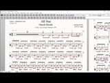 Drum Score World (Sample) - Smash Mouth - All Star