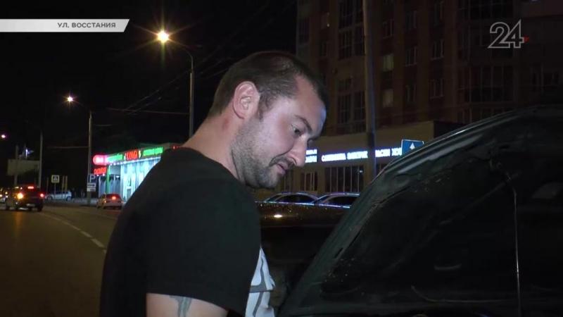 Две иномарки столкнулись на ул. Восстания в Казани