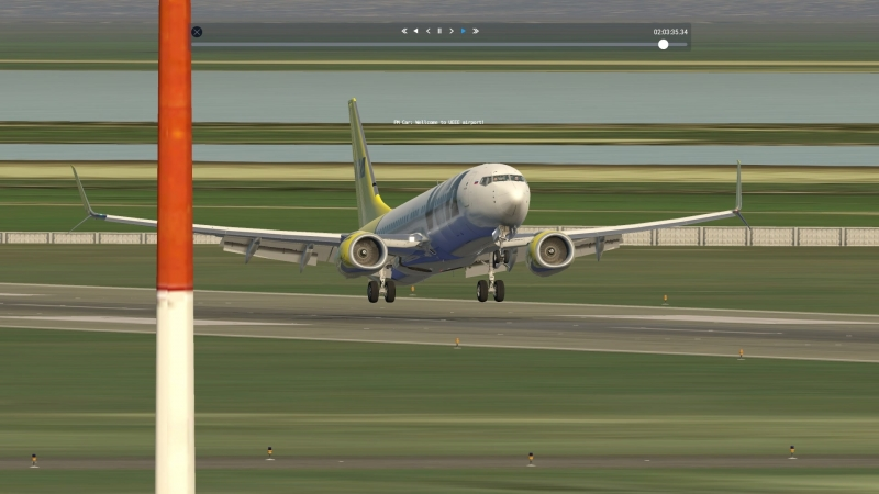 Посадка в Якутске на B738_ИВАО