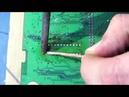 Урок по пайке для начинающих Демонтаж микросхемы в корпусе типа DIP с двухсторонней печатной платы