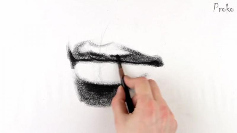 Как рисовать губы поэтапно / How to Draw Lips - Step by Step [озвучка kir4ik88]
