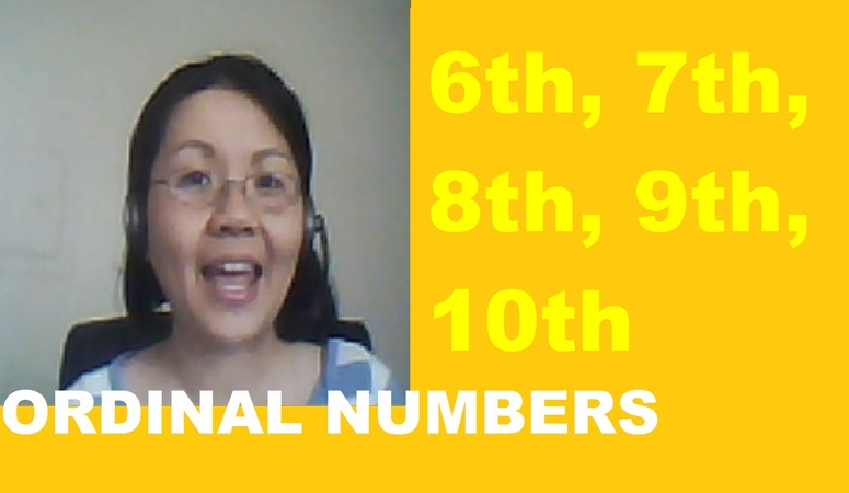 How to Say the Ordinal Numbers 6th, 7th, 8th, 9th 10th - Learn American English