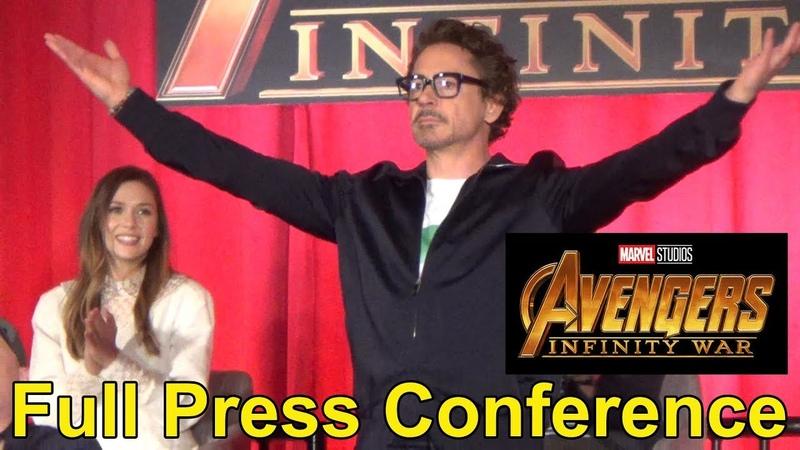 Avengers: Infinity War FULL Press Conference w/Cast Filmmakers: Chris Hemsworth, Kevin Feige