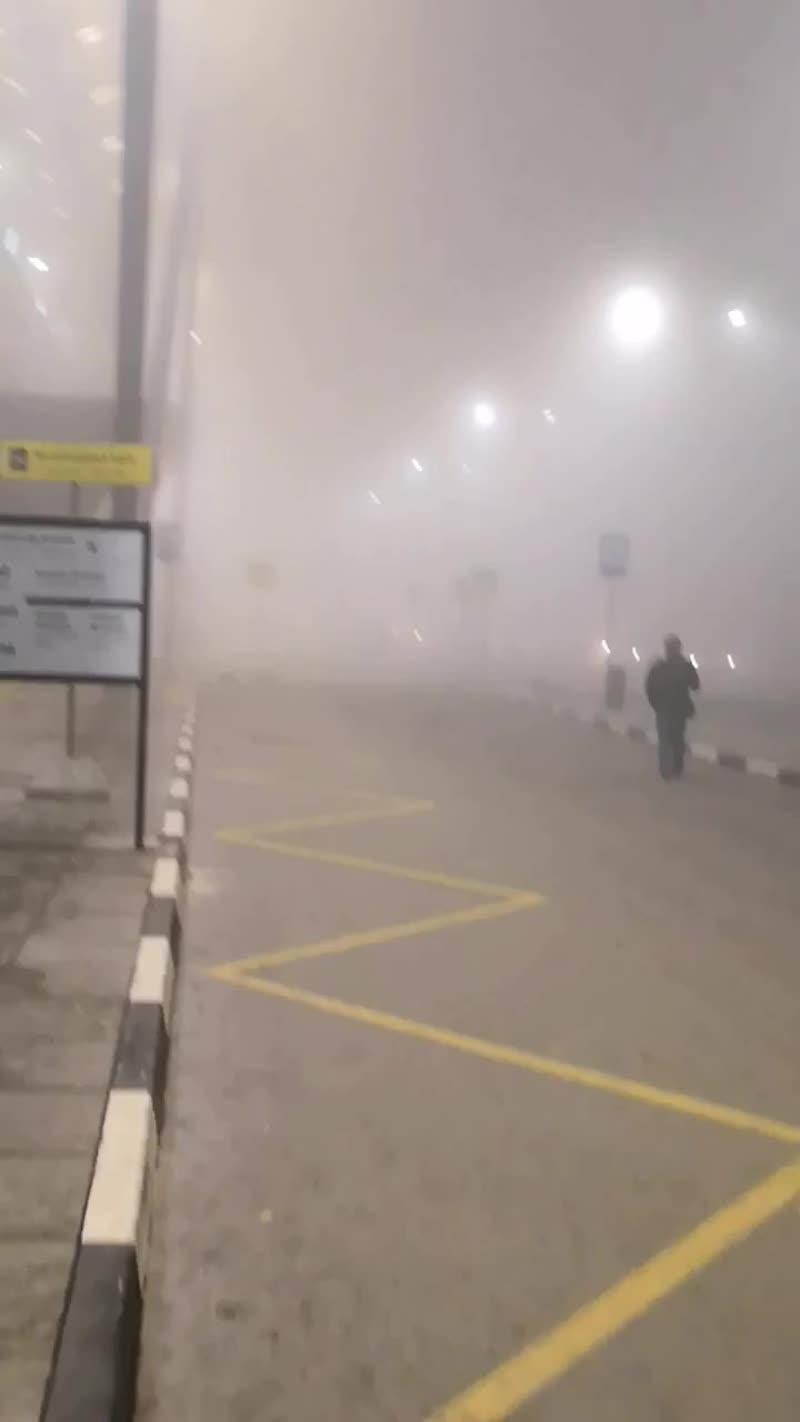 Туман в Шереметьево