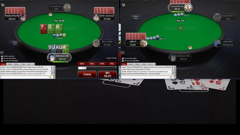 Omaha 5card PLO25 Pokerstars Омаха 5карт ПЛО25 часть 2