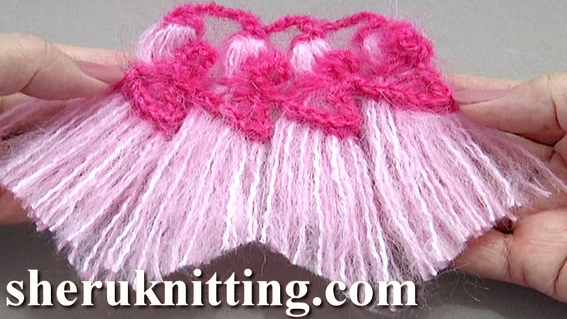 Tassels Worked On Hairpin Loom Tutorial 35 Crochet Tassels