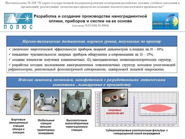 Проект № 13.G36.31.0004 АО Научно-исследовательский институт Полюс им. М.Ф.Стельмаха