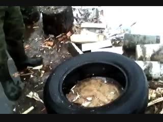 Лайфхак для колки дров - Проект « Дача »