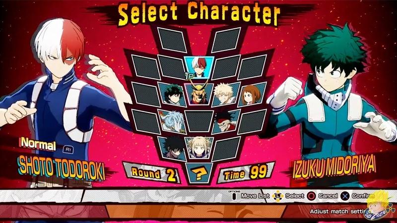 My Hero Academia: One's Justice - Izuku Midoriya Vs Shoto Todoroki Dabi Vs All Might Gameplay