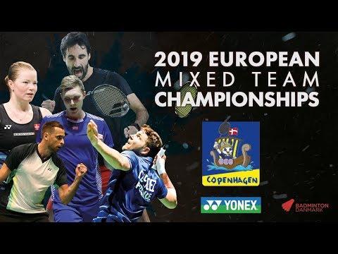 Denmark (Anders Antonsen) vs France (Lucas Corvee) - Day 1 - European Mixed Team C'ships 2019