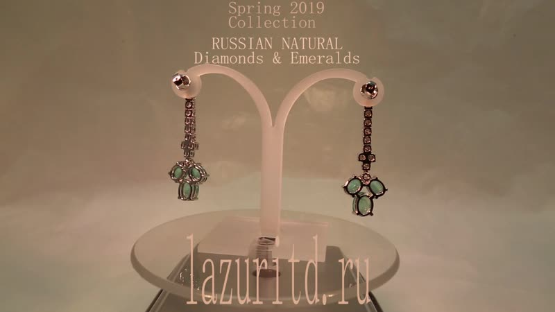 Russian Natural Diamonds and Emeralds. Collection Spring - Summer 2019.