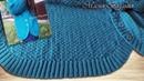 Мастер класс по вязанию закругленного низа изделия частичным вязанием Как связать интересный неровный край с глубоким полукругом