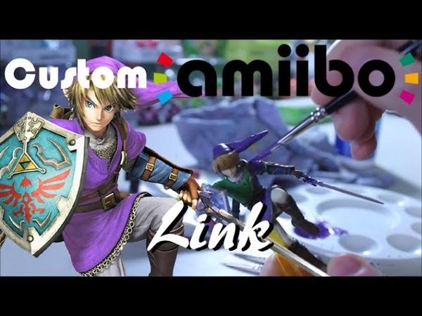 Покрас Amiibo Линка в его фиолетовую вариацию Purple Alternate Costume