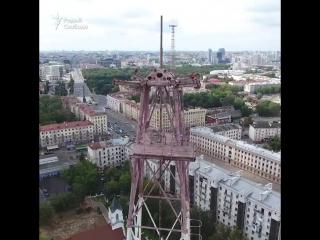 Як выглядае Менск з башні-глушылкі