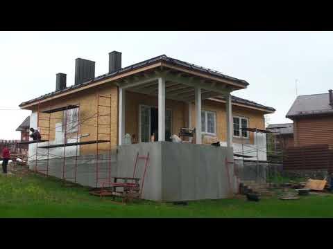 Каркасный дом будет облицован клинкерной плиткой, приклейка плитки на систему Ceresit