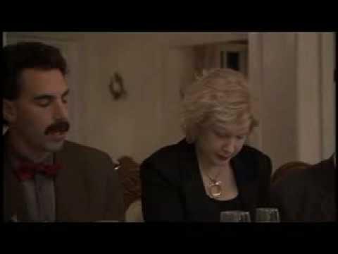 Borat dinner prayer scene
