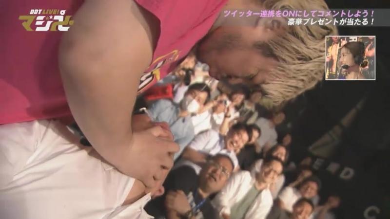 Keisuke Ishii, Kouki Iwasaki vs. Danshoku Dino, Makoto Oishi (DDT Live! Maji Manji 5)