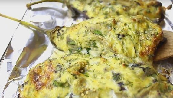 Баклажаны, запеченные с сыром (баклажаны Кучерикас)