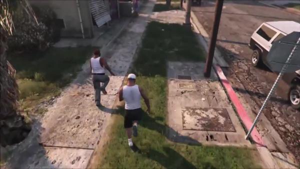 GTA 5 - Найден толстый Сиджей Кого я встретил на Грув-стрите