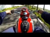 Поездка на мотоцикле Jawa 350 Ogar, 1947 года