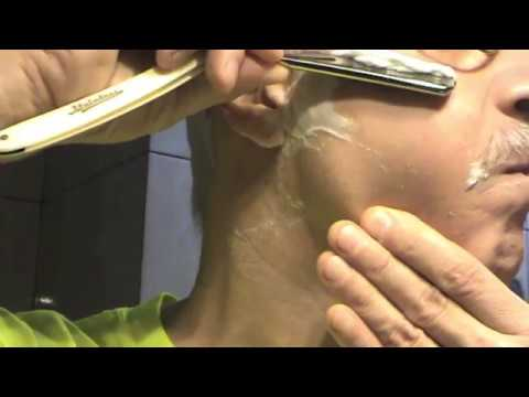 Бритьё опасной бритвой М-66 Tamahagane straight razor shaving