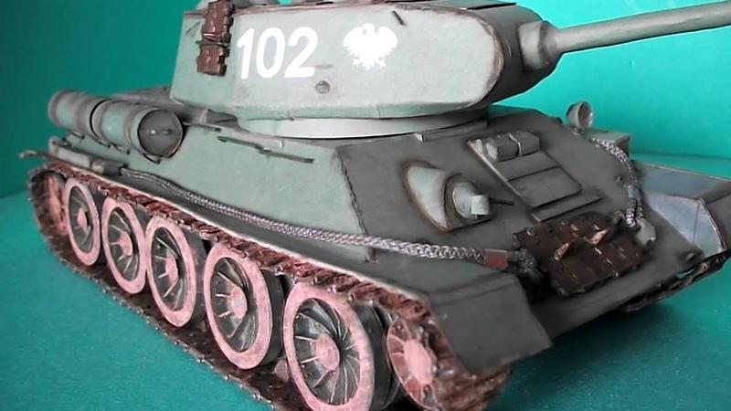 T 34 85 RUDY skala 1 25 model kartonowy Prezentacja