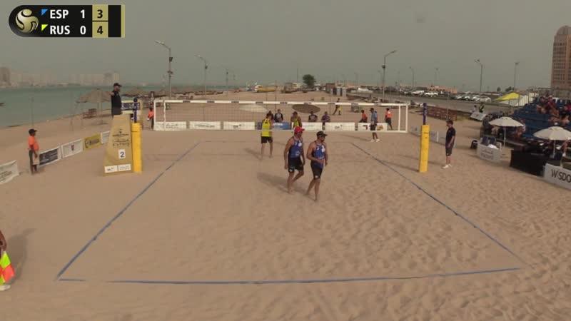 Doha 2019 4Star Beachvolleyball Herrera_Gavira_ESP_Liamin_Velichko_RUS