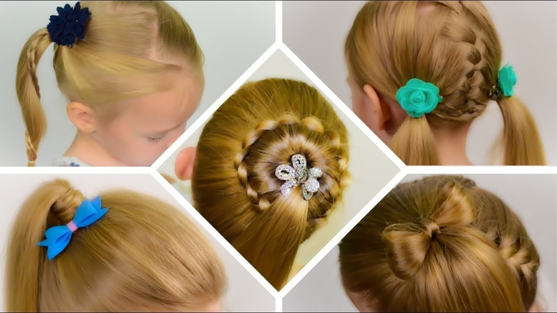 TOP 5 SIMPLE and BEAUTIFUL hairstyles with PONYTAILs. Collection of hairstyles 5