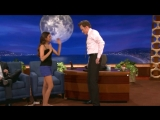 Nina Dobrev Uses Conan As Her Human Yoga Wall - CONAN on TBS